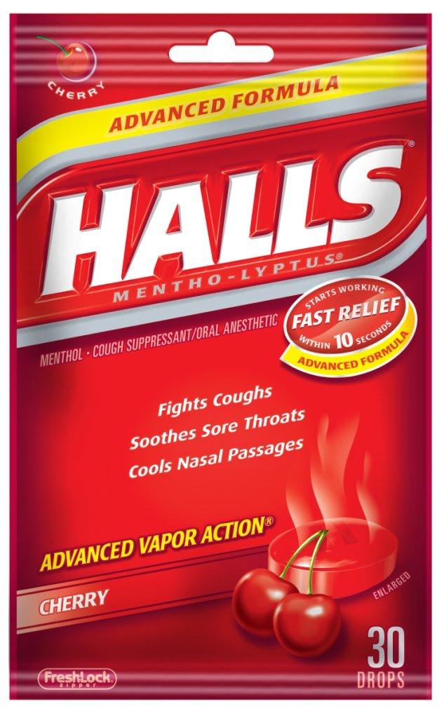 HALLS Cherry Bag