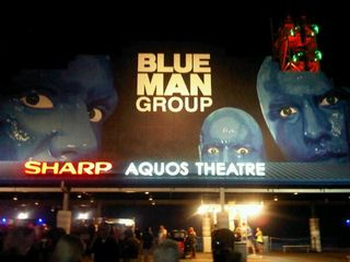 Blue man group sign